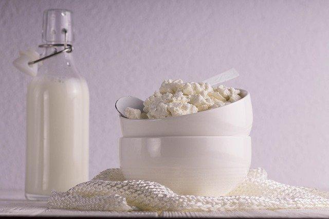mléko a tvaroh